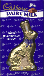 Cadbury chocolate Easter bunny.